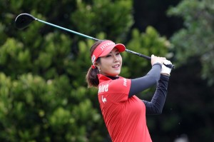 NANJO, JAPAN - MARCH 07:  Ha-Neul Kim of South Korea plays a tee shot during the second round of the Daikin Orchid Ladies Golf Tournament at the Ryukyu Golf Club on March 7, 2015 in Nanjo, Japan.  (Photo by Chung Sung-Jun/Getty Images)